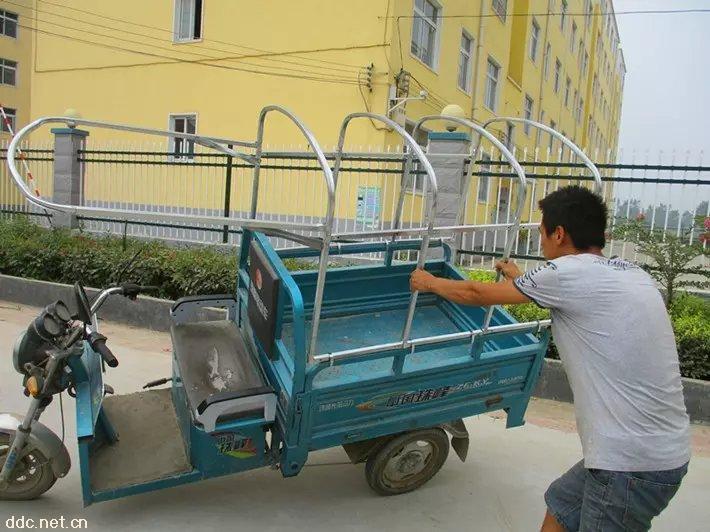 电动三轮车折叠车棚_电动三轮车棚价格-周口市二龙篷业