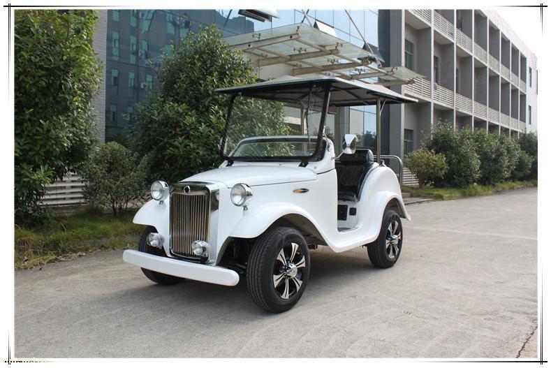 直销批发电动观光车C款4座白色游览观光车