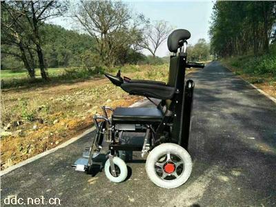 两用新款黑色电动轮椅履带能上下楼梯轮椅车电动爬楼轮椅车