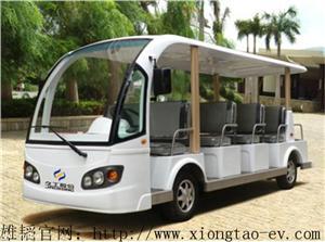 雄韬白色11座景区公园用电动观光车