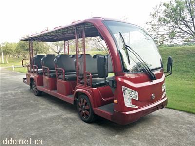 园区观光用14座油电混合电动观光车