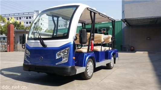 新研发8座油电混合观光车