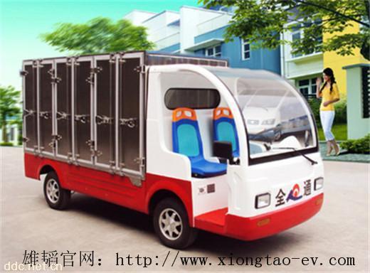 雄韬-2座不锈钢密封箱体电动送餐车