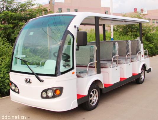 景区楼盘公园用14座电动观光车接待车