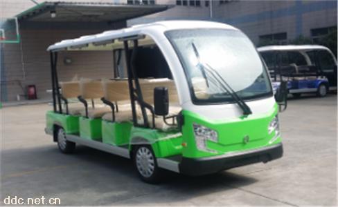 绿色交流配置12座电动观光游览车