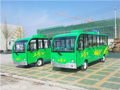 18人座电动封闭式带空调观光车