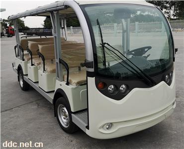 2021新款全注塑外壳电动观光车座位向前