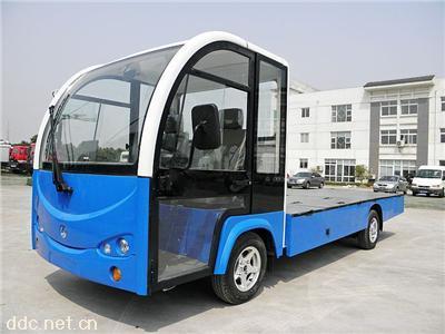 多功能电动平板厢式观光车