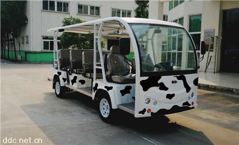 11座蒙牛卡通版电动观光车(敞开式)