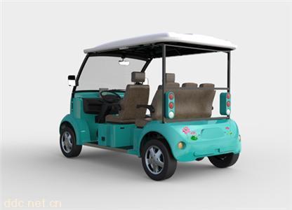 蓝色四座自驾游景区观光车