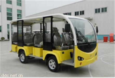 黄色11座敞篷电动观光车美国进口柯蒂斯电控