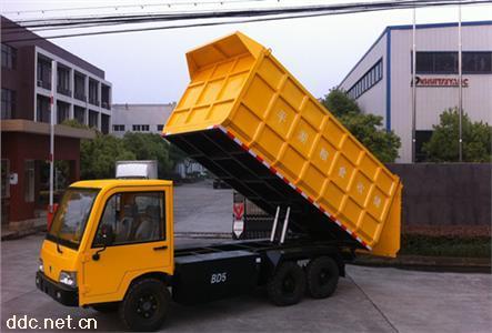 电动自卸货车黄色