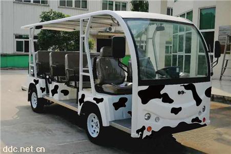 11座敞开式卡通蒙牛版电动观光车