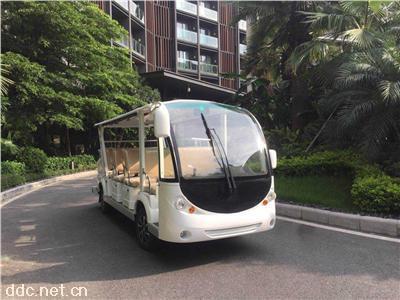 14座经典白游览观光车