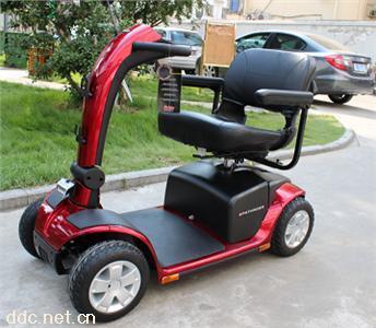美国进口普拉德骑士四轮老年电动轮椅代步车