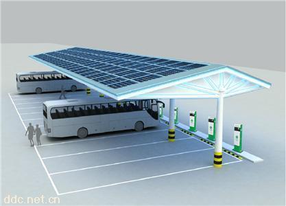 电桩云太阳能充电站新能源汽车电动汽车充电桩充电站eta-pv