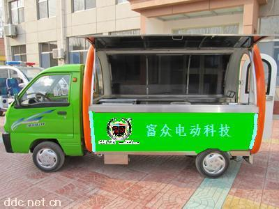 四轮电动餐车