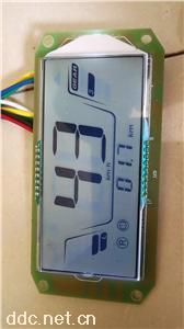 半封闭电动三轮车带温度液晶仪表