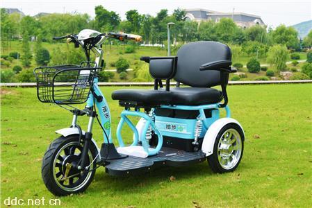 新品信步巴士BS-216精品双人休闲三轮电动车老年代步车