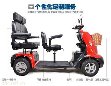 信步老年代步车电动四轮车残疾人代步车豪华三座舒适座椅