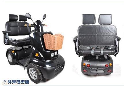 信步XB-F双人四轮自动刹车老年电动车残疾人电动车原装出口