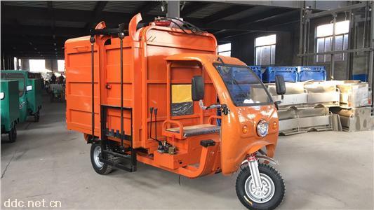 新款挂桶式翻斗式拖桶垃圾车