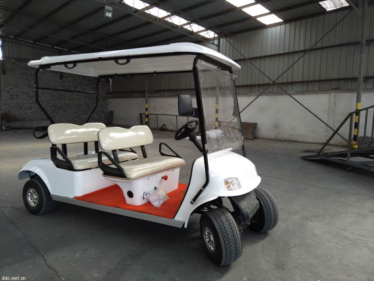 宝岛四轮4人电动高尔夫球车