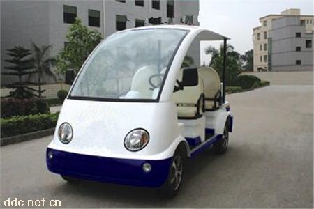 新款白色电动物业治安车百纳执勤车
