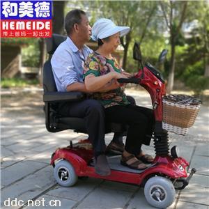 和美德H6/H6L单人座可变换子母双人座老年电动代步车