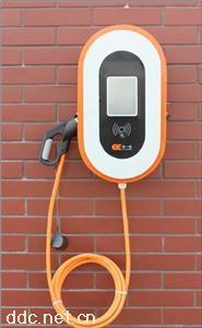 新能源电动汽车停车场智能落地式交流充电桩双枪