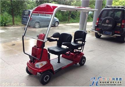 威之群4033B双人电动老年代步车