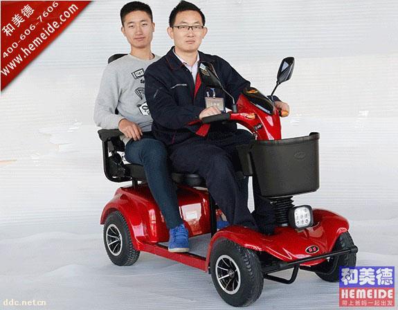 北门湖B413双人座紧凑型智能老年电动代步车
