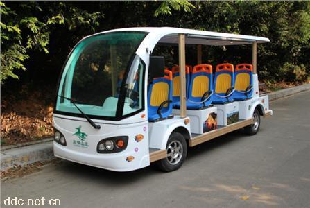米森11座电动观光车白色