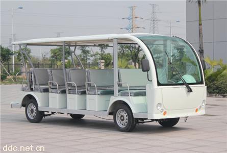 米森23座电动观光车白色
