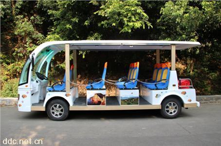 米森最新款11座电动观光车