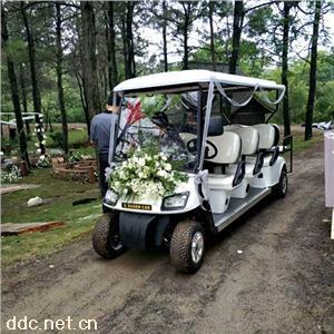 傲森品牌直销白色电动高尔夫球车8座
