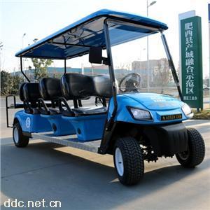傲森8人座蓝色电动高尔夫球车
