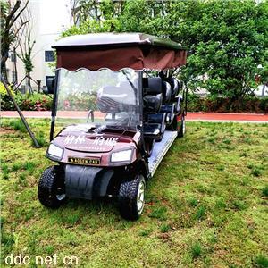 傲森8人座电动高尔夫球车加装饰帘