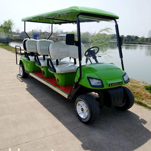 傲森8人座绿色景区电动观光车