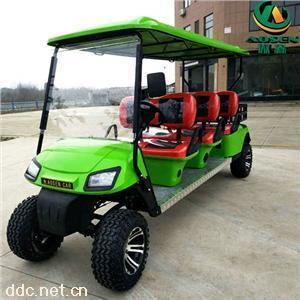 傲森品牌正三排6座电动高尔夫车加斗