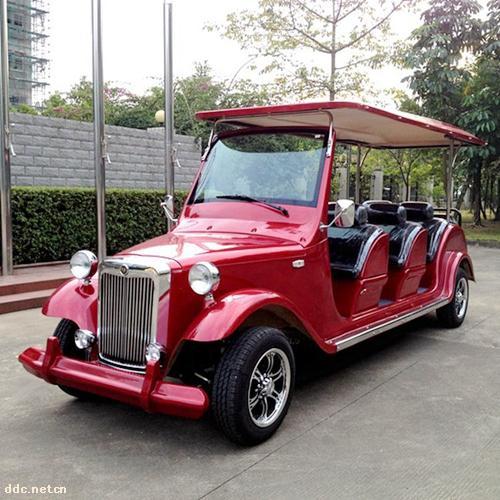 傲森红色8座电动观光车
