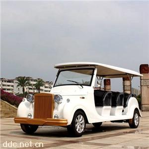 傲森品牌12座白色定制电动观光车景区
