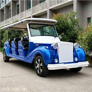 傲森蓝色12人座景区旅游电动观光车