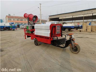 摩托三輪灑水車小型霧炮灑水車