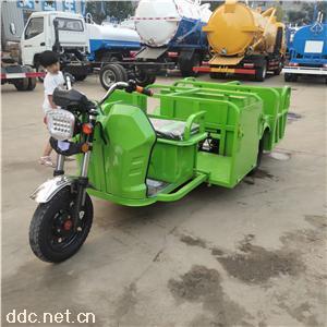 能装4个垃圾桶的电动车电动垃圾车