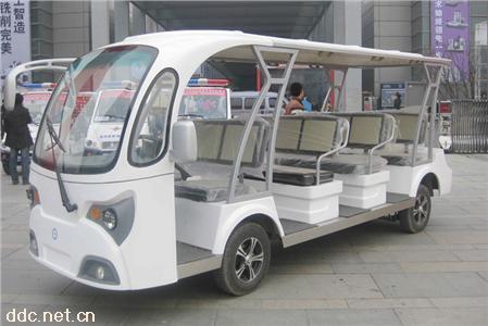 凯驰11座白色景区电动观光车