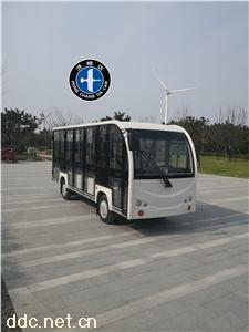 白色鸿畅达电动观光车新款