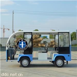鸿畅达蓝色电动观光车新款