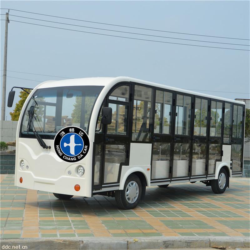 全封闭式可拆卸门电动旅游观光车