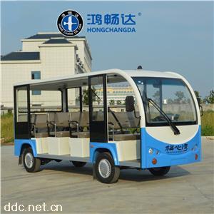 全国热销款鸿畅达11座电动旅游观光车